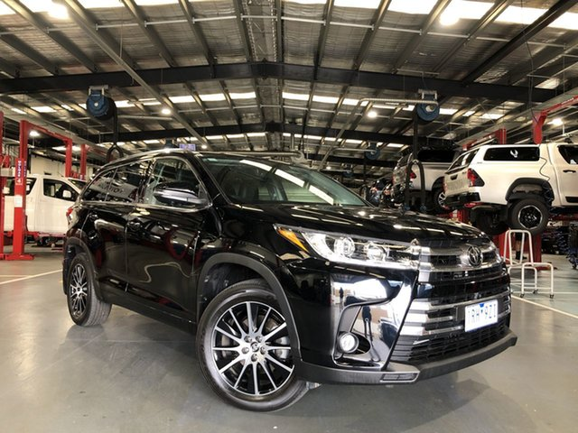 Pre-Owned Toyota Kluger GSU50R Grande 2WD Oakleigh, 2019 Toyota Kluger GSU50R Grande 2WD Eclipse Black 8 Speed Sports Automatic Wagon