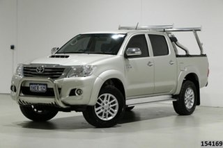 2014 Toyota Hilux KUN26R MY14 SR5 (4x4) Silver 5 Speed Manual Dual Cab Pick-up.