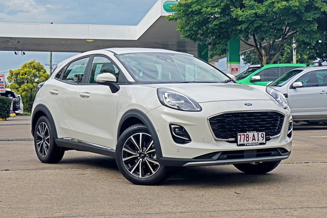 Used Ford Puma JK 2020.75MY Puma Capalaba, 2020 Ford Puma JK 2020.75MY Puma White 7 Speed Sports Automatic Dual Clutch Wagon