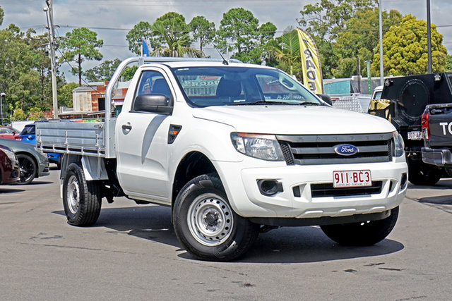Used Ford Ranger PX XL Hi-Rider Chandler, 2014 Ford Ranger PX XL Hi-Rider Cool White 6 Speed Sports Automatic Cab Chassis