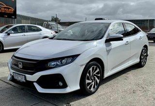 2019 Honda Civic 10th Gen MY19 VTi-S White 1 Speed Constant Variable Hatchback.