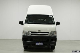2009 Toyota HiAce TRH201R MY07 Upgrade LWB White 5 Speed Manual Van.