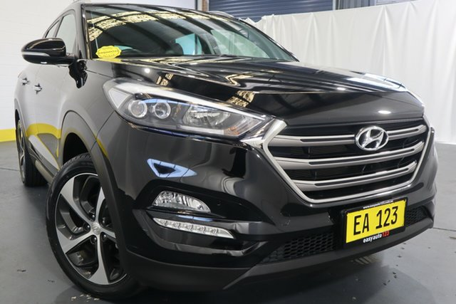 Used Hyundai Tucson TLe MY17 Elite D-CT AWD Castle Hill, 2016 Hyundai Tucson TLe MY17 Elite D-CT AWD Black 7 Speed Sports Automatic Dual Clutch Wagon