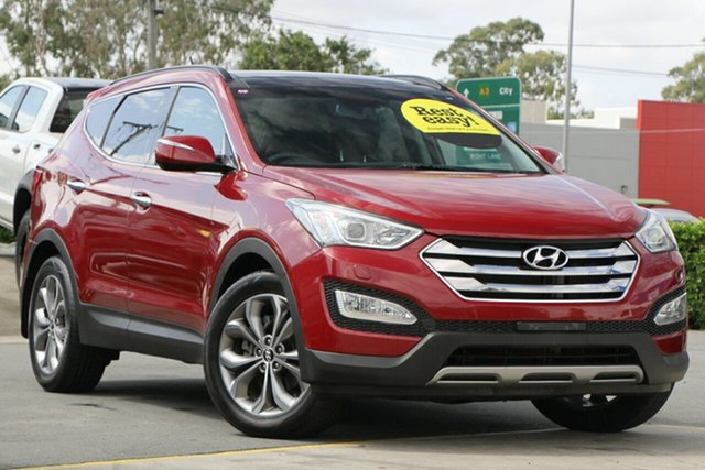 Used Hyundai Santa Fe DM MY13 Highlander Aspley, 2013 Hyundai Santa Fe DM MY13 Highlander Red 6 Speed Sports Automatic Wagon