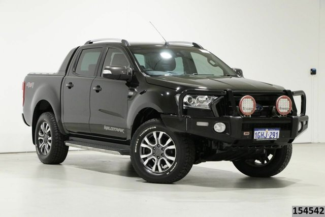 Used Ford Ranger PX MkII MY17 Update Wildtrak 3.2 (4x4) Bentley, 2017 Ford Ranger PX MkII MY17 Update Wildtrak 3.2 (4x4) Black 6 Speed Automatic Dual Cab Pick-up