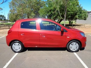2019 Mitsubishi Mirage LA MY20 ES Red Planet 1 Speed Constant Variable Hatchback.