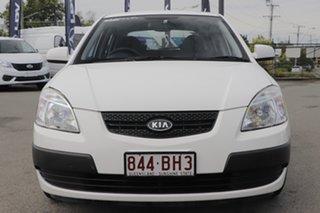 2009 Kia Rio JB MY09 LX Clear White 5 Speed Manual Hatchback