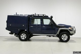 2017 Toyota Landcruiser LC70 VDJ79R MY17 GXL (4x4) Blue 5 Speed Manual Double Cab Chassis