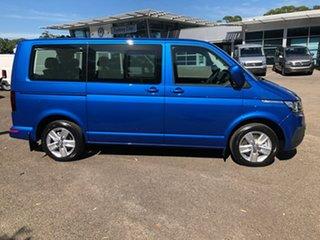 2020 Volkswagen Multivan T6.1 MY21 TDI340 SWB DSG Comfortline Premium Blue 7 Speed.