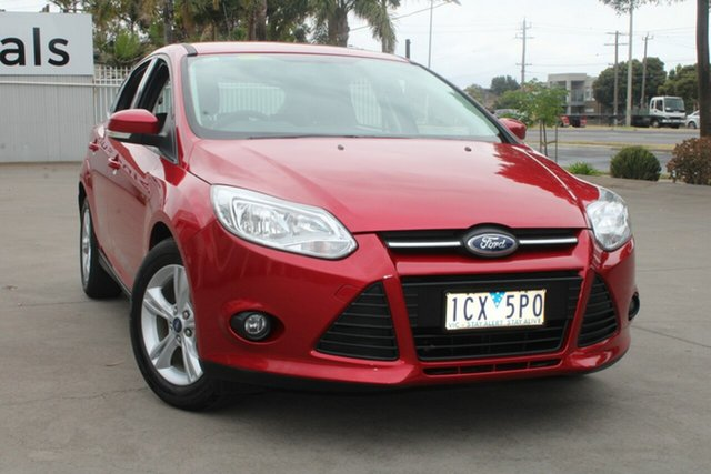Used Ford Focus LW MK2 MY14 Trend West Footscray, 2014 Ford Focus LW MK2 MY14 Trend Red 6 Speed Automatic Hatchback
