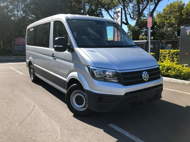 New Volkswagen Crafter SY1 MY20 Minibus MWB FWD TDI410 Botany, 2019 Volkswagen Crafter SY1 MY20 Minibus MWB FWD TDI410 Silver 8 Speed Automatic Bus