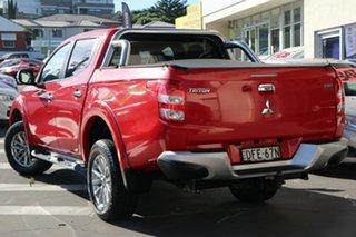 2015 Mitsubishi Triton MQ MY16 GLS Double Cab Red 6 Speed Manual Utility.