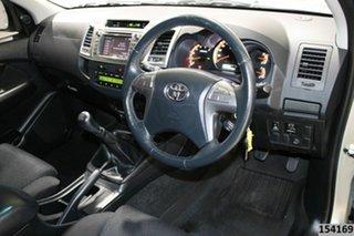 2014 Toyota Hilux KUN26R MY14 SR5 (4x4) Silver 5 Speed Manual Dual Cab Pick-up