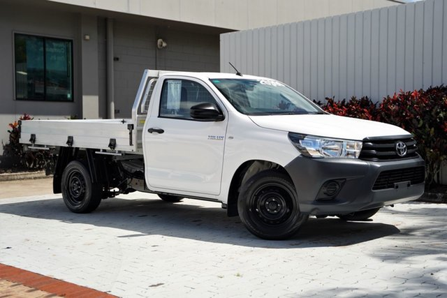 Used Toyota Hilux GUN122R Workmate 4x2 Cairns, 2016 Toyota Hilux GUN122R Workmate 4x2 White 5 Speed Manual Cab Chassis