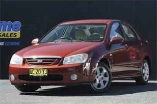 2005 Kia Cerato LD MY06 EX Red 4 Speed Automatic Sedan.