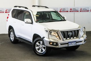 2014 Toyota Landcruiser Prado KDJ150R MY14 GXL (4x4) Glacier White 5 Speed Sequential Auto Wagon.