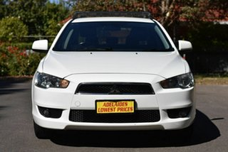 2010 Mitsubishi Lancer CJ MY10 VR White 6 Speed Constant Variable Sedan.