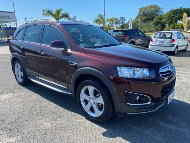 Used Holden Captiva CG MY14 7 AWD LTZ Gladstone, 2014 Holden Captiva CG MY14 7 AWD LTZ Maroon 6 Speed Sports Automatic Wagon