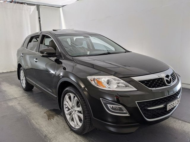 Used Mazda CX-9 TB10A4 MY12 Grand Touring Maryville, 2012 Mazda CX-9 TB10A4 MY12 Grand Touring Black 6 Speed Sports Automatic Wagon