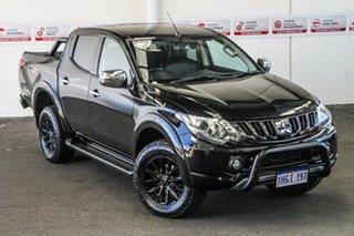 2017 Mitsubishi Triton MQ MY17 Exceed (4x4) Black 5 Speed Automatic Dual Cab Utility.