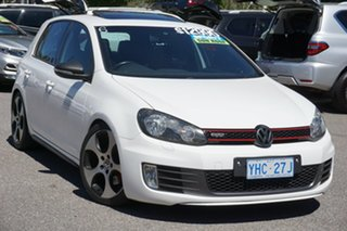 2010 Volkswagen Golf VI MY10 GTI DSG White 6 Speed Sports Automatic Dual Clutch Hatchback.