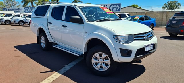 Used Mitsubishi Triton MN MY13 GLX Double Cab East Bunbury, 2013 Mitsubishi Triton MN MY13 GLX Double Cab White 4 Speed Sports Automatic Utility
