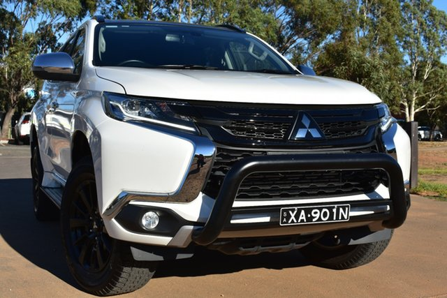 Used Mitsubishi Pajero Sport QE MY19 Black Edition St Marys, 2018 Mitsubishi Pajero Sport QE MY19 Black Edition White 8 Speed Sports Automatic Wagon