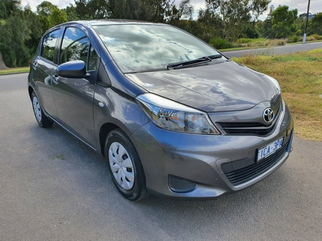 Used Toyota Yaris NCP130R YR Geelong, 2014 Toyota Yaris NCP130R YR Grey 4 Speed Automatic Hatchback