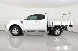 2014 Ford Ranger PX XLT 3.2 Hi-Rider (4x2) White 6 Speed Automatic Super Cab Utility