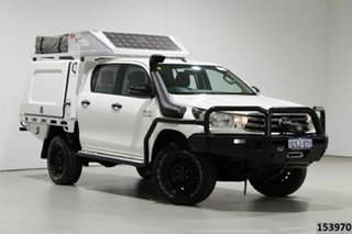 2018 Toyota Hilux GUN126R MY17 SR (4x4) White 6 Speed Automatic Dual Cab Chassis.