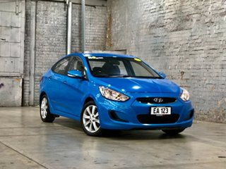 2018 Hyundai Accent RB6 MY18 Sport Blue 6 Speed Sports Automatic Sedan.