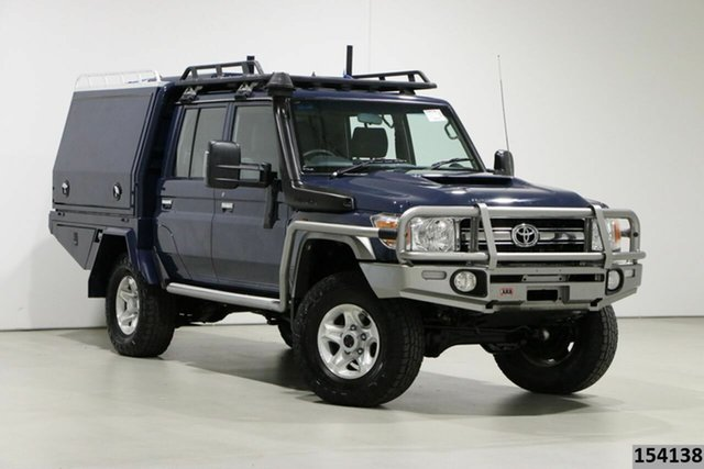 Used Toyota Landcruiser LC70 VDJ79R MY17 GXL (4x4) Bentley, 2017 Toyota Landcruiser LC70 VDJ79R MY17 GXL (4x4) Blue 5 Speed Manual Double Cab Chassis