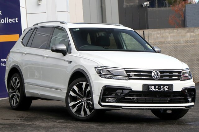 Demo Volkswagen Tiguan 5N MY21 162TSI Highline DSG 4MOTION Allspace Port Melbourne, 2020 Volkswagen Tiguan 5N MY21 162TSI Highline DSG 4MOTION Allspace White 7 Speed