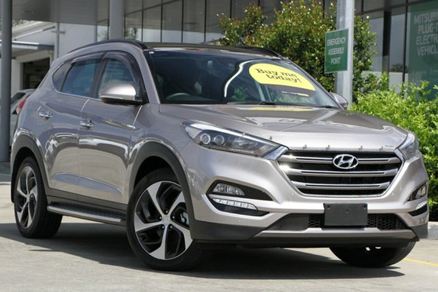 Used Hyundai Tucson TLE Highlander D-CT AWD Aspley, 2016 Hyundai Tucson TLE Highlander D-CT AWD Silvery Gold Sand 7 Speed Sports Automatic Dual Clutch
