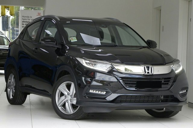New Honda HR-V MY21 VTi-S Newstead, 2020 Honda HR-V MY21 VTi-S Crystal Black 1 Speed Constant Variable Hatchback