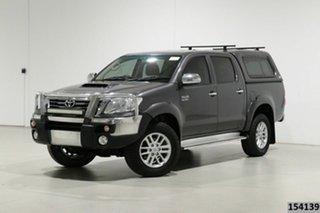 2015 Toyota Hilux KUN26R MY14 SR5 (4x4) Grey 5 Speed Manual Dual Cab Pick-up.