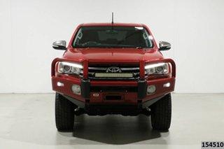 2015 Toyota Hilux GUN126R SR5 (4x4) Red 6 Speed Manual Dual Cab Utility.