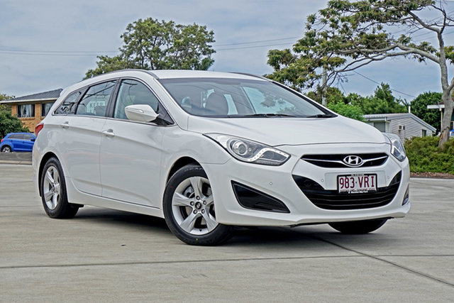Used Hyundai i40 VF2 Active Tourer Capalaba, 2013 Hyundai i40 VF2 Active Tourer Creamy White 6 Speed Sports Automatic Wagon
