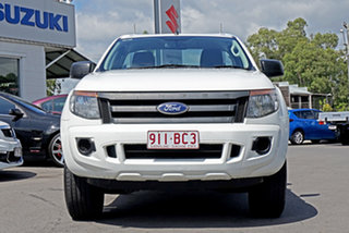 2014 Ford Ranger PX XL Hi-Rider Cool White 6 Speed Sports Automatic Cab Chassis.