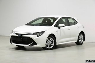 2019 Toyota Corolla ZWE211R Ascent Sport Hybrid White Continuous Variable Hatchback.