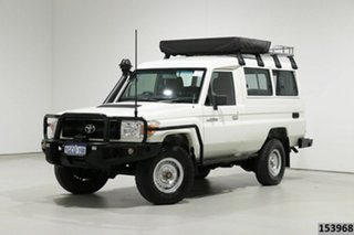 2011 Toyota Landcruiser VDJ78R 09 Upgrade Workmate (4x4) 3 Seat White 5 Speed Manual TroopCarrier.