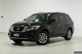 2015 Nissan Pathfinder R52 MY15 ST (4x2) Black Continuous Variable Wagon.