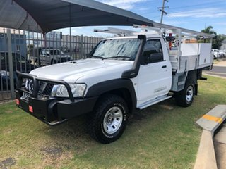 2013 Nissan Patrol MY11 Upgrade DX (4x4) White 5 Speed Manual Leaf Cab Chassis.