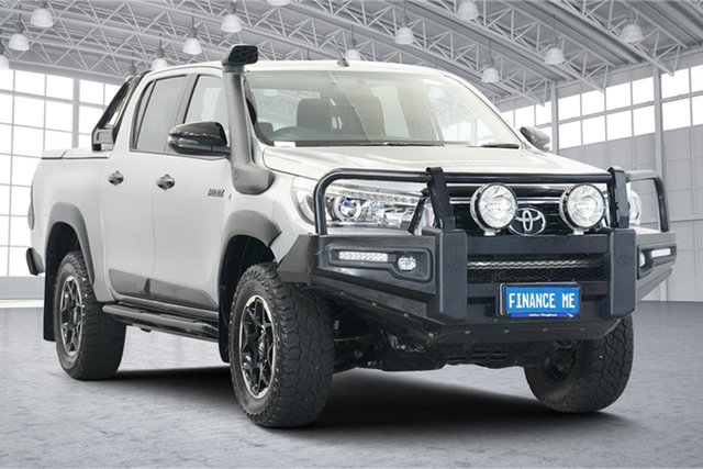 Used Toyota Hilux GUN126R Rugged X Double Cab Victoria Park, 2019 Toyota Hilux GUN126R Rugged X Double Cab Silver Sky 6 Speed Manual Utility