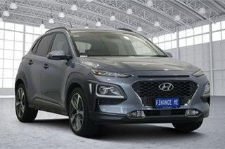 2017 Hyundai Kona OS MY18 Highlander 2WD Lake Silver 6 Speed Sports Automatic Wagon.