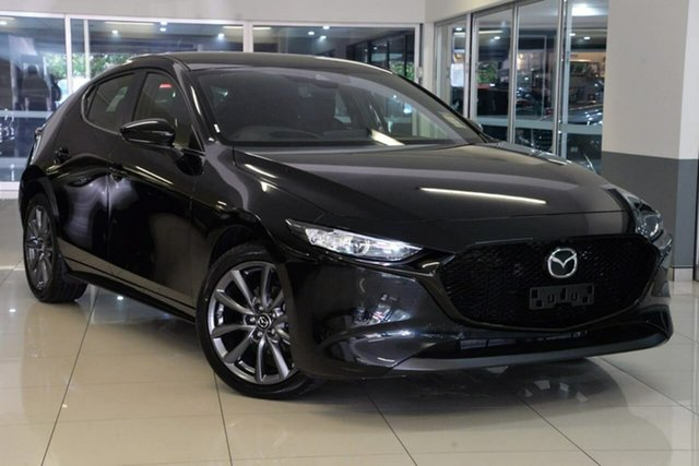 New Mazda 3 BP2H7A G20 SKYACTIV-Drive Evolve Waitara, 2020 Mazda 3 BP2H7A G20 SKYACTIV-Drive Evolve Black 6 Speed Sports Automatic Hatchback