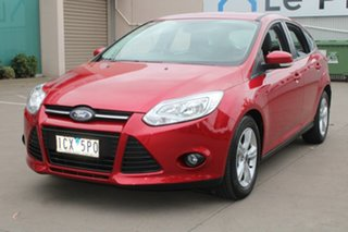 2014 Ford Focus LW MK2 MY14 Trend Red 6 Speed Automatic Hatchback