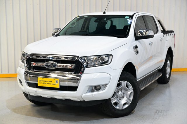 Used Ford Ranger PX MkII XLT Double Cab Hendra, 2017 Ford Ranger PX MkII XLT Double Cab White 6 Speed Sports Automatic Utility