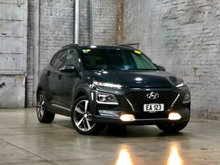 2017 Hyundai Kona OS MY18 Highlander 2WD Grey 6 Speed Sports Automatic Wagon.