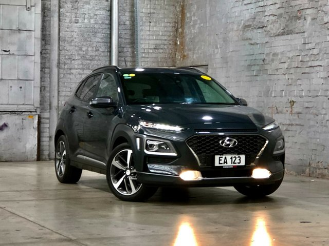 Used Hyundai Kona OS MY18 Highlander 2WD Mile End South, 2017 Hyundai Kona OS MY18 Highlander 2WD Grey 6 Speed Sports Automatic Wagon